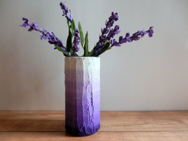 diy concrete flower vase my daily magazine architecture design home decor diy fashion. Black Bedroom Furniture Sets. Home Design Ideas