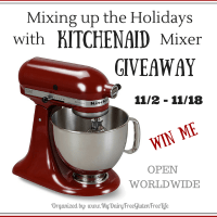 Mixing up the holidays with KitchenAid Mixer Giveaway 11/18 US