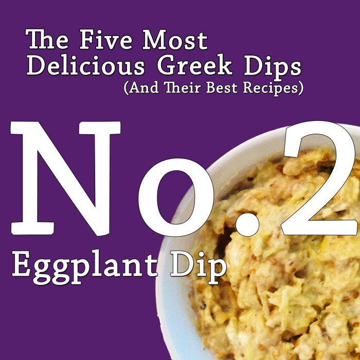 The Five Most Delicious Greek Dips.  No. 2:  Eggplant Dip