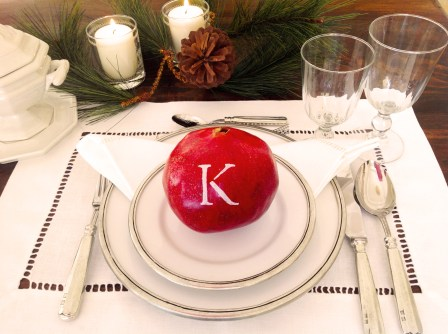 Pomegranate And Tablesetting