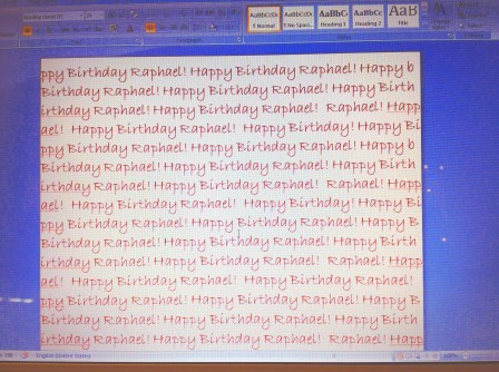 Happy Birthday Raphael