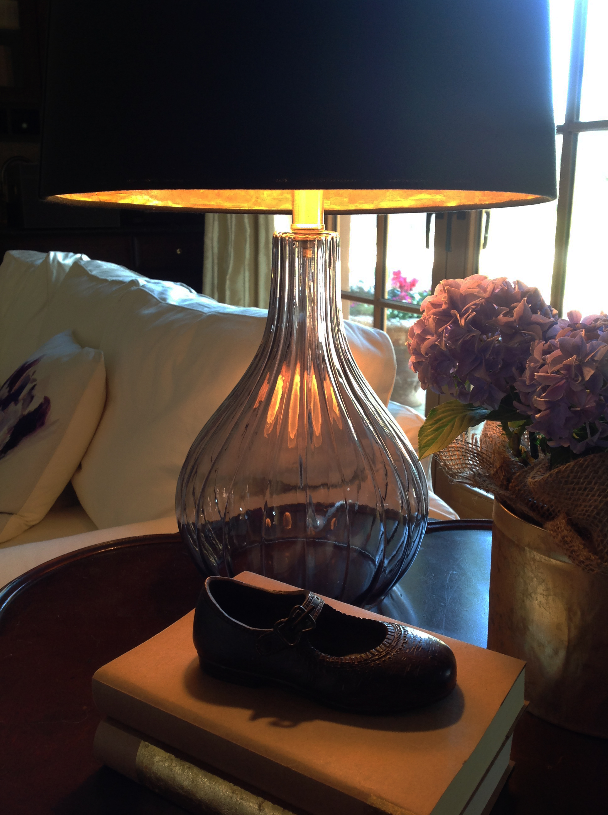 Lamp Shade With Gold Lining | Once Again, My Dear Irene