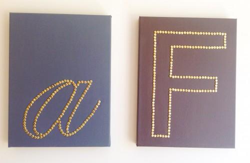 Letters A & F - My Dear Irene