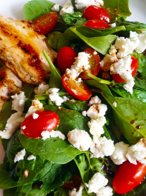Spinach, Goat Cheese, Tomatoe Salad - My Dear Irene