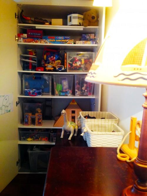 Boys Room Closet Storage