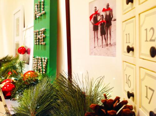 Christmas Mantel  With Canvas Art - mydearirene