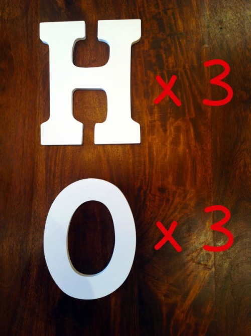 HO White Letters - mydearirene