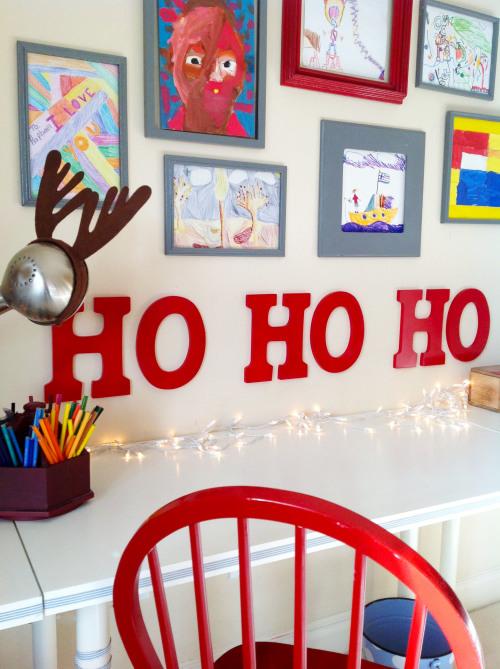 """""""HO HO HO"""" Christmas Wooden Letters"""