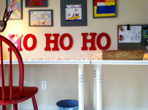 Ho Ho Ho Red Chair - mydearirene