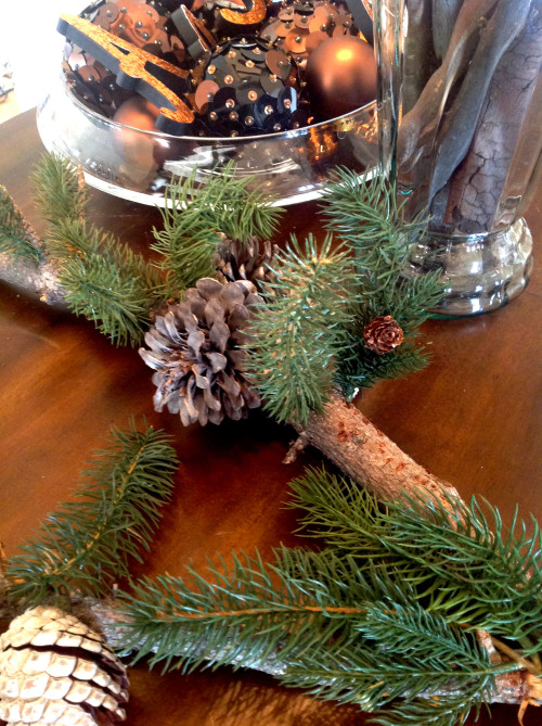 New Pine Branch On A Table - mydearirene