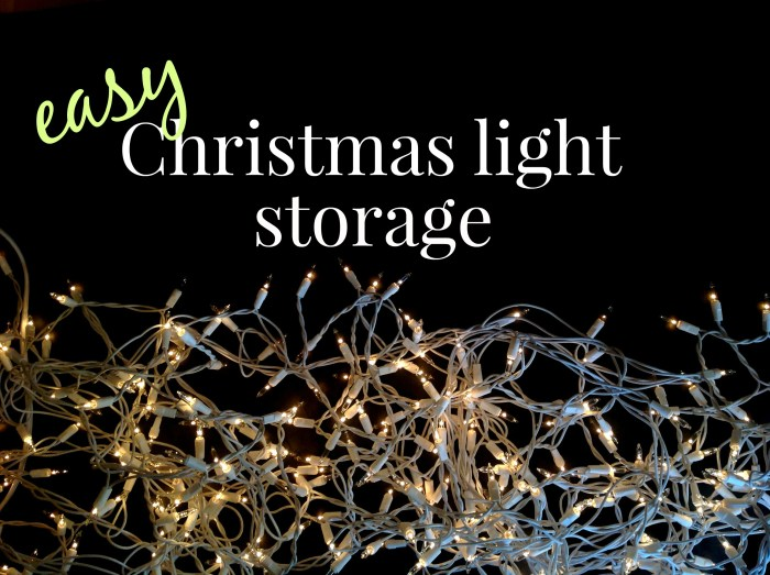 How To Store Christmas Lights, the Smart Way!