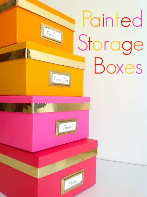 Beau Painted Storage Boxes