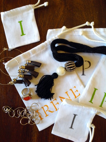 Personalized Jewelry Travel Pouches