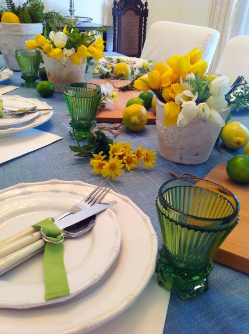 Lemons, Limes & Flowers Table Setting