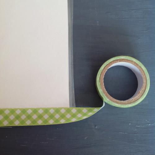 Applying Washi Tape - mydearirene.com