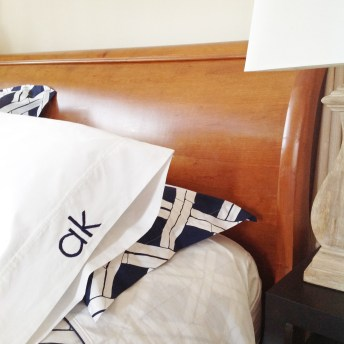 Get The Pottery Barn Bedding Look For Less: Embroider Your Own Monogram! An Easy Tutorial For Everyone