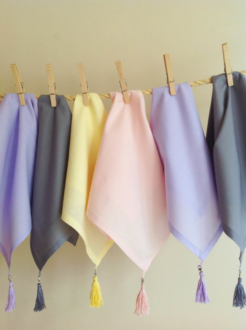 Pastel Napkins With A Tassel - mydearirene.com