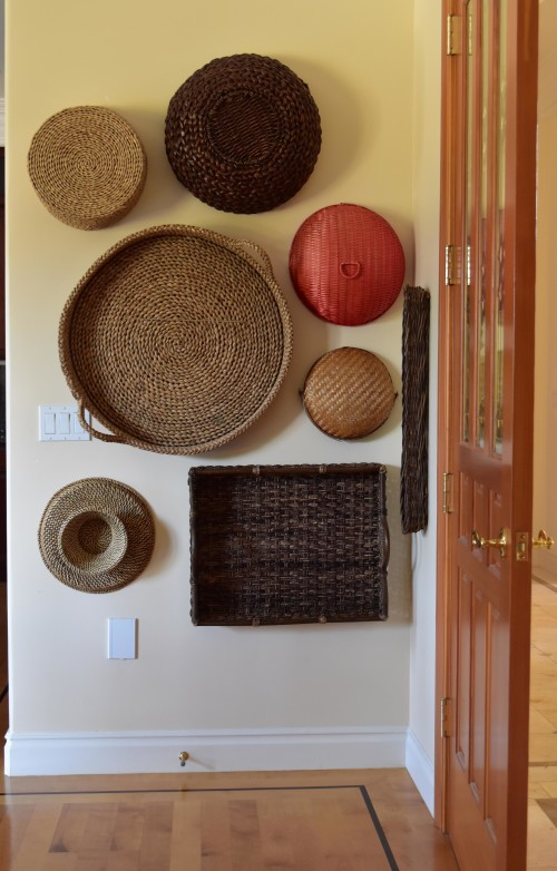 Wall Of Baskets Behind Door - mydearirene.com