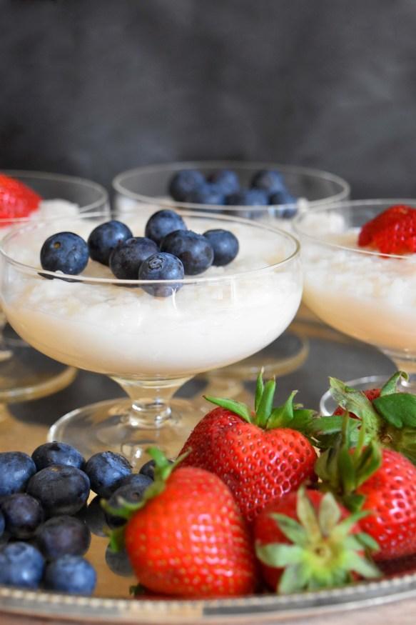 Almond Milk Rice Pudding