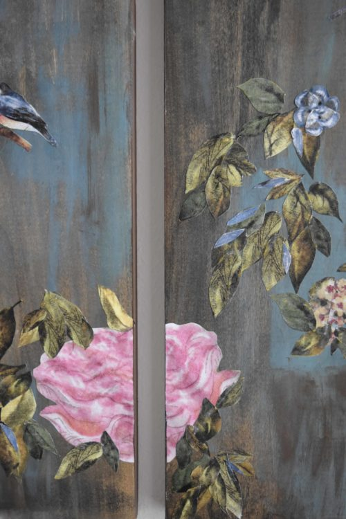 Chinoiserie Collage Art Panels - mydearirene.com
