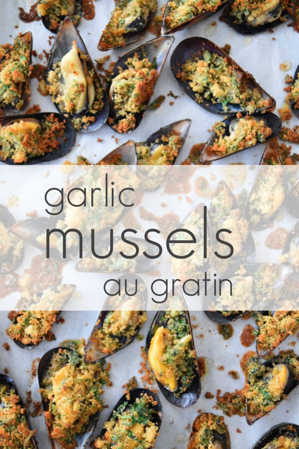 Garlic Mussels au Gratin