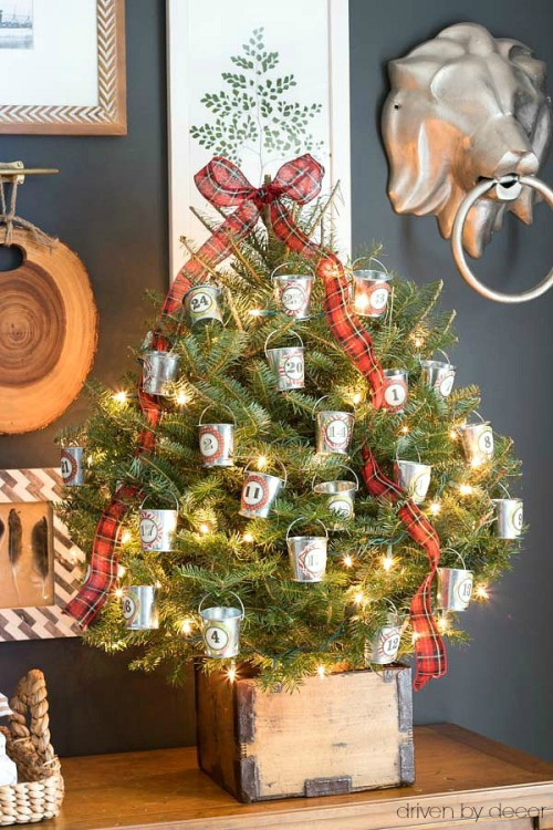 our-christmas-advent-tree-with-treats-in-mini-galvanized-buckets