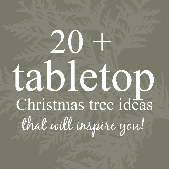 My Seasonal Inspiration: Tabletop Christmas Trees