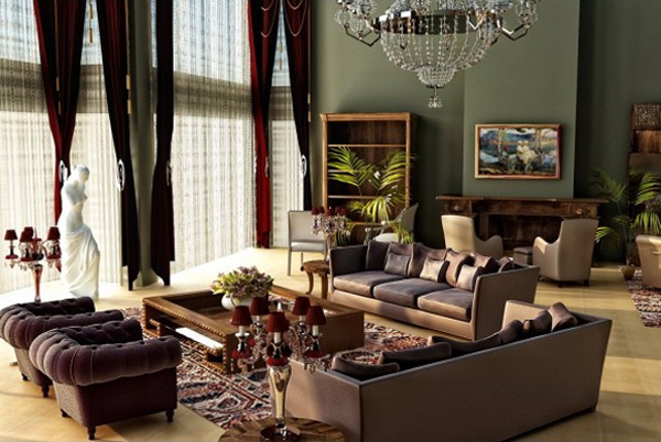 outstanding-living-room-with-statue My Decorative - living room statues