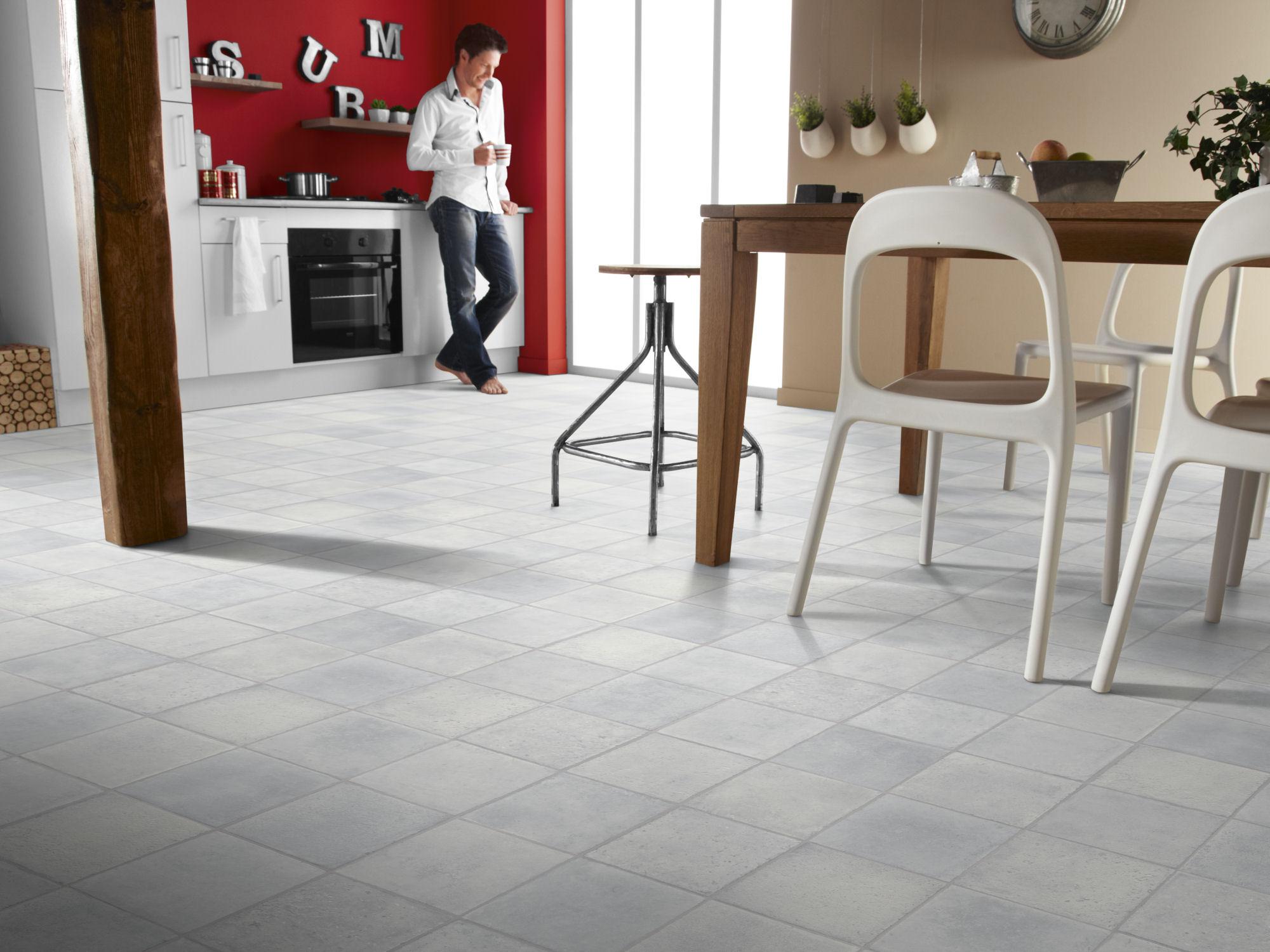 choose right flooring for kitchen vinyl flooring vinyl kitchen flooring Kitchen Decorated with Vinyl Floor