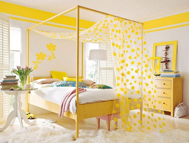 yellow color and feng shui bedroom ideas