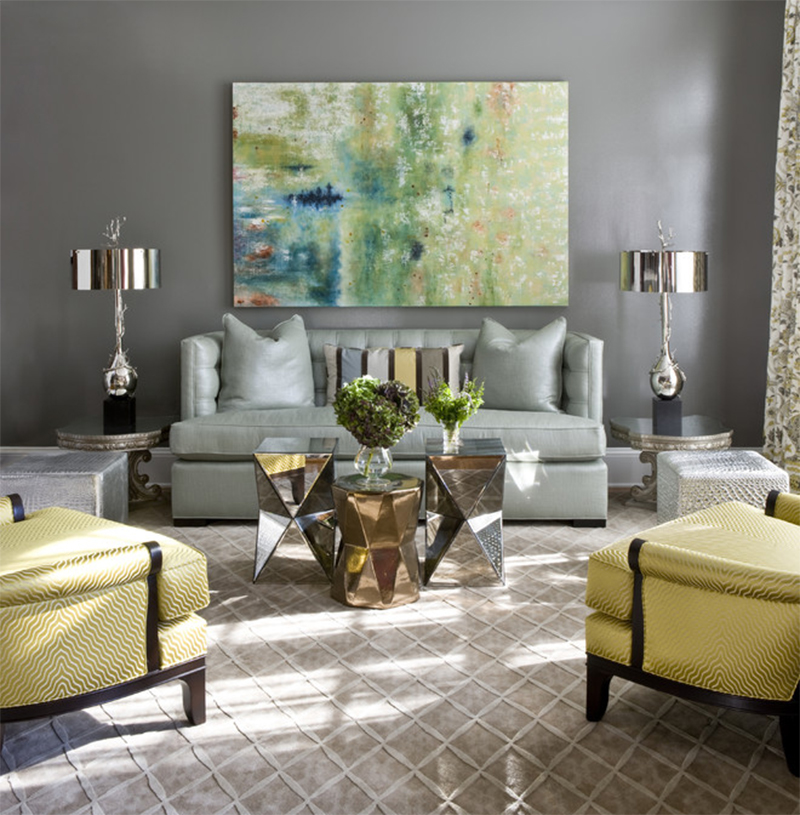 Wohnzimmer Bohemian Latest Trends To Bring The Metallic Luster And Influences