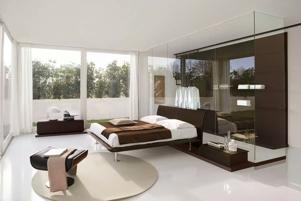 Bedroom Furniture Wonderful Bedroom Ideas With Glass Divider And Cabinet My Decorative