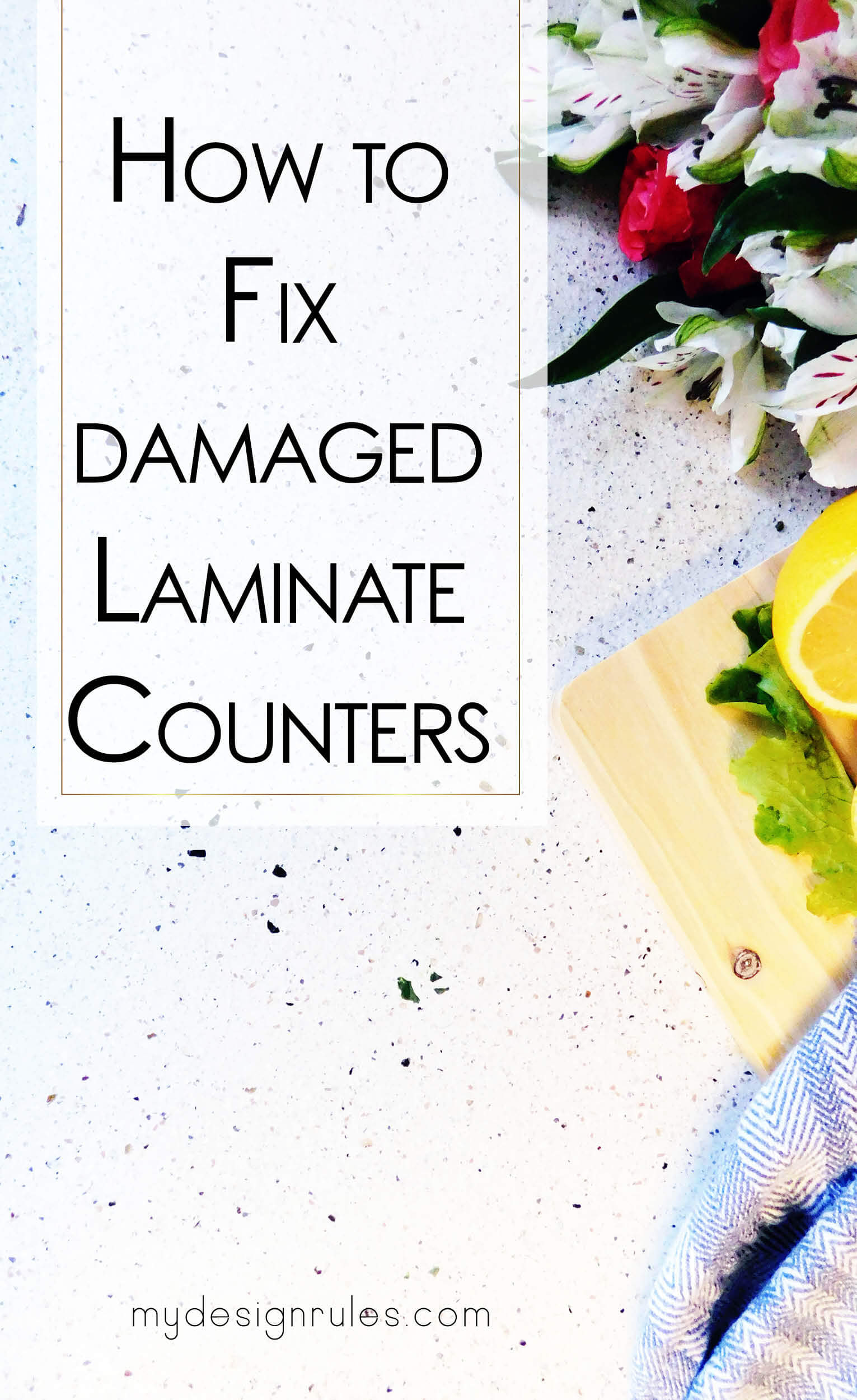 How To Fix Formica Countertops How To Repair Damaged Laminate Countertop My Design Rules