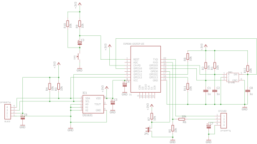 rotary encoder circuit breadboard schematic