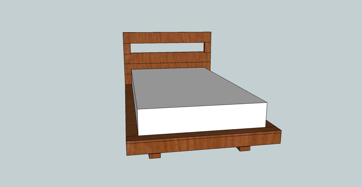Groovy Headboard Twin Size Platform Bed Plan Floating Platform Bed Ikea Floating Platform Bed Plans Queen Twin Bed houzz-02 Floating Platform Bed