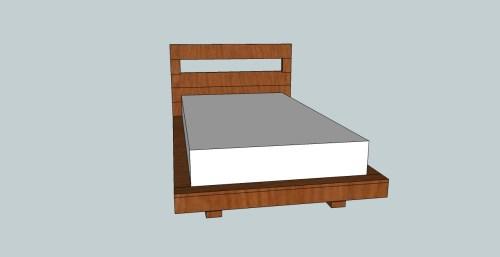 Medium Of Floating Platform Bed