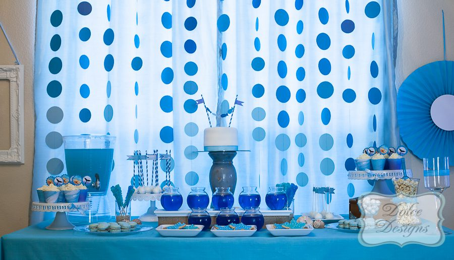 Under the sea birthday Dolce Designs - blue and green birthday party