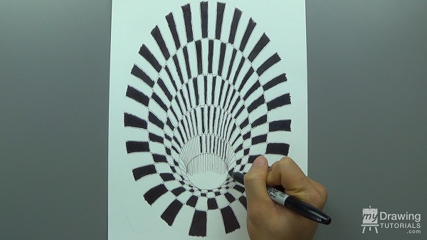 How To Draw A 3D Hole Optical Illusion My Drawing Tutorials