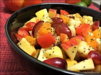 Healthy Tomato Fresh Fruit Salad Bowl - My Eating Space