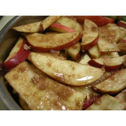 Small Crop Of Sliced Baked Apples