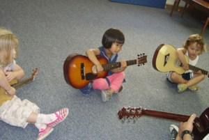 Even the youngest children at Crescendo learn using real instruments.