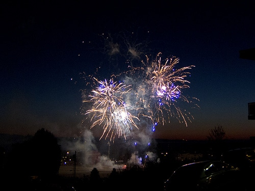 Jon Assink captured fireworks over Edmonds in 2011