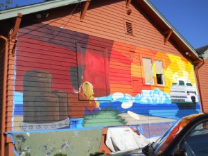 Latest edmonds mural taking shape my edmonds news for Edmonds mural society