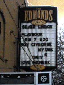 For Valentine's Day: Some love-ly messaging from Michelle Clyborne to her husband Ron, appearing on the Edmonds Theater readerboard Thursday.