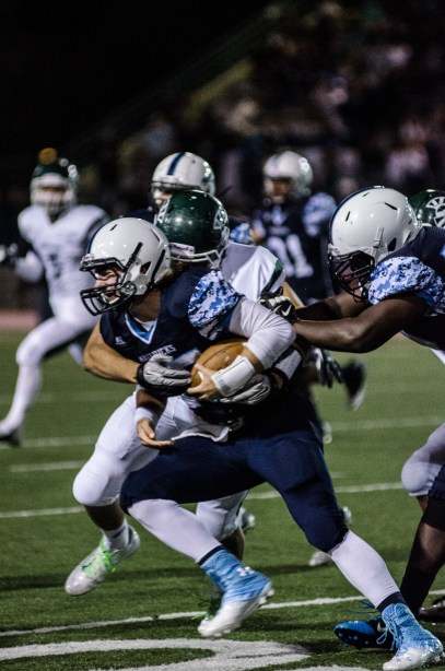 Meadowdale quarterback Jeremiah Evans scored both of the Mavs' touchdowns.
