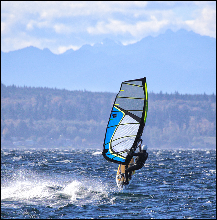 From LeRoy VanHee, Sunday was a good day to get some air at Edmonds' Marina Beach Park.