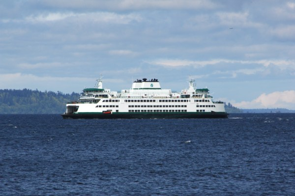 From Tom Dockins, the MV Tokitae as it passes by Edmonds Wednesday, during sea trials.