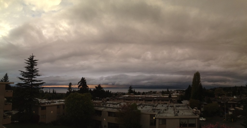 From Chuck Woodbury, a dramatic Thursday late afternoon sky over Edmonds.