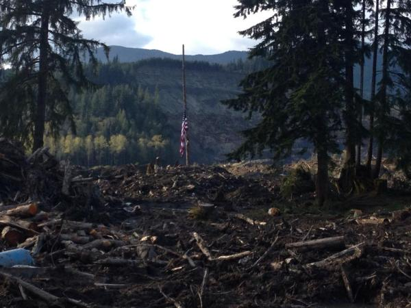 """It was total devastation,"" said Jamison of his first view of the Oso disaster."