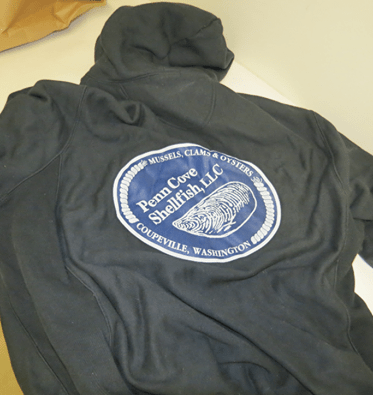 The robbery suspect wore a sweatshirt with this logo on the back.